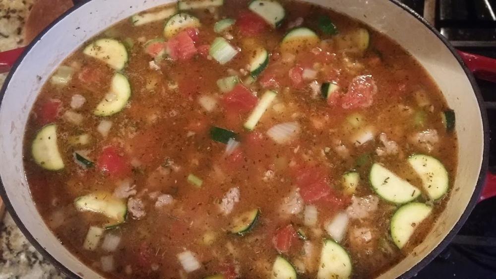 lentil soup pre simmer