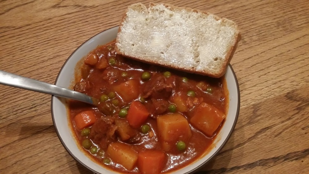 Irish Stew and Buttered Bread
