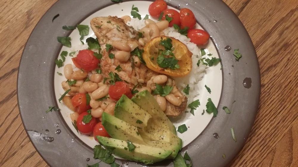 Mediterranean Chicken plated