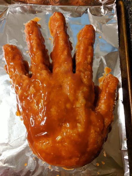 Turkey meatloaf hand glazed