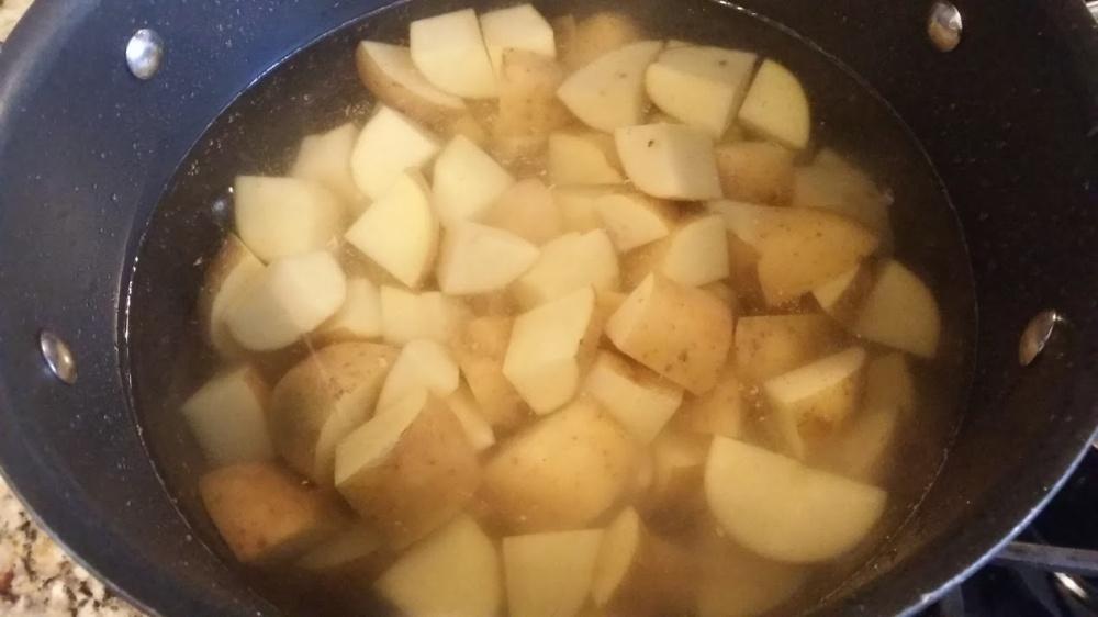Bangers and mash potatoes