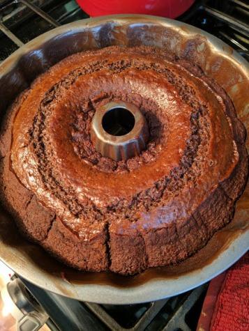 Orange Chocolate Cake baked