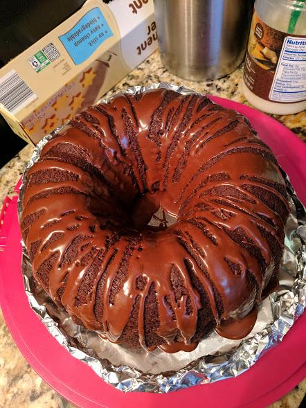 Orange Chocolate Cake finished